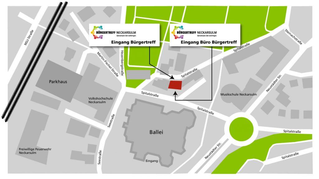 Bürgertreff Neckarsulm Anfahrt Karte
